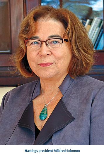 Hastings president Mildred Solomon