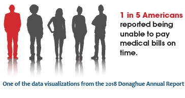 One of the data visualizations from the 2018 Donaghue Annual Report
